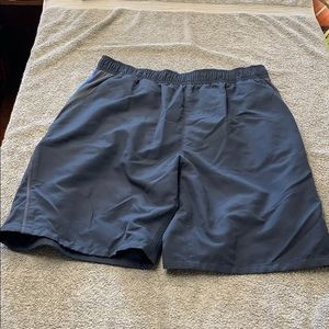 Men's Speedo blue swim trunks medium